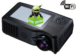Wholesale Mp5 Hdmi - Android Projector Home Entertainment Projector 1080P WITH WIFI(ANDROID 4.0) ,HD,RMVB(MP5),USB,TF card