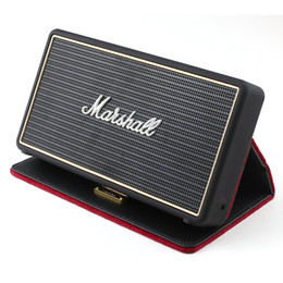 Wholesale Flip Usb - Marshall Stockwell Portable BlueTooth Speaker With Flip Cover Case drop shipping AAA quality
