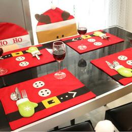 2019 tops de mesa de escritório Esteiras de Mesa de natal Faca Garfo Placemats Decoração Xmas Party Pads Confortável Jantar Jantar Toalha De Mesa Suprimentos Decoração DHL HQ025