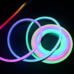20M impermeable IP68 Flexible LED Neon Tube Light DC12V WS2811 IC Flex Strip Light 60leds / M 5050 SMD colores completamente intercambiables desde fabricantes