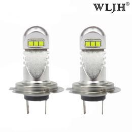 Wholesale H7 Led Low Beam - WLJH 800LM 30W Car Light H7 Led Bulb Daytime Running Light DRL Headlight Headlamp Low Beam Driving Fog Lamp Bulbs 12V - 24V
