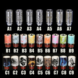 Wholesale America Tips - 510 delrin drip tip stainless steel drip tip ceramics drip tip Europe and America hot sale product