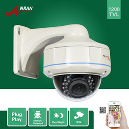 Wholesale High Resolution Ir Dome Camera - ANRAN High Resolution HD Outdoor IR Security Vandal-proof Dome Camera 1200TVL SONY IMX138 Sensor CCTV Zoom 2.8-12mm Camera