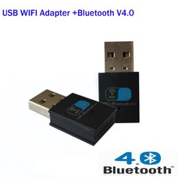Wholesale Usb Adapter N - Wholesale- Mini 150M Wireless usb wifi Network Card Bluetooth V4.0 USB WiFi wi fi adapter 802.11 n g b for PC laptop