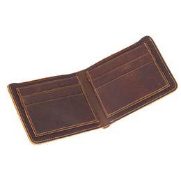 Wholesale Crazy Designer - Crazy Horse Leather Best Wallet For Men Christmas Gift Designer Mens Wallet With High Quality Vintage Leather