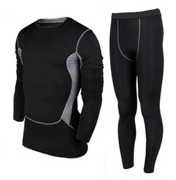 Wholesale Athletic Jacket Pants - Wholesale-2016 new mens High Elasticable fitness GYM Trousers Breathable Suits Athletics running jacket Pants Sport Tights Men sportsuit