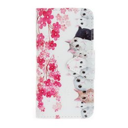 Wholesale Little Butterfly Fashion - For SONY Xperia XA Luxury Fashion Pattern Wallet Cover butterfly Little bear plum blossom cherry blossom Black eyes flip Magnetic buckle