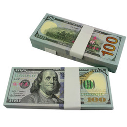 Wholesale Music Fountain Pen - Money banknote USD 5 10 20 50 100 for props and Education bank staff training paper fake money copy money children gift