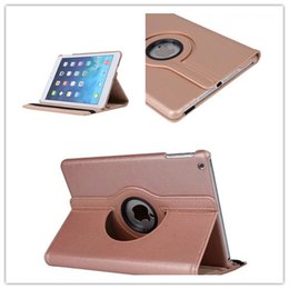 Wholesale Golden Pro - Fashion Golden Degree Rotation Smart Stand PU Leather Tablet Case Cover For Apple ipad Pro 12.9'' Ipad Air Mini 4 Ipad 2