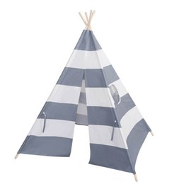 Wholesale Play Tent House - Indian Style Canvas stripe tents Children Play House Castle Tent for Indoor children indoor games tents toy house B001