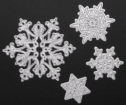 Wholesale Cartoon Stencil - Free shipping Brand New 4pcs set Metal Snowflake Christmas Cutting Dies Stencils for DIY Die Cut Stencil Decorative Scrapbooking Craft