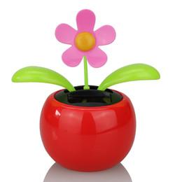 Fábrica direta solar automático balançando sol flor flutua no carro decoração decoração cabeça de maçã de