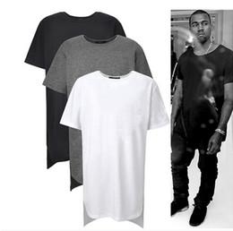 Wholesale Tyga T Shirts - Long High Low Tee New 2016 Fashion Hip Hop Man Summer Tops T-shirt T Shirt Men Tyga Swag Clothing Clothes Kanye West