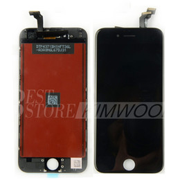 Wholesale Mesh Display - A+++ LCD Display Touch Digitizer Complete Screen with Frame Full Assembly Replacement For Iphone 6 Iphone 6 Plus Earpiece Anti-dust Mesh DHL