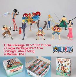 Wholesale One Piece Figure Set Sanji - 9pcs set One Piece Action Figures 2 Years Later Luffy Zoro Sanji Usopp Brook Franky Nami Robin Chopper Free Shipping