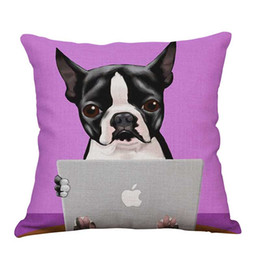 Wholesale Christmas Pet Products - muchun Brand Pillow Case for Christmas Gift Pet Dog Cotton Linen 45*45cm New Year Product Home Textiles Decorative Pillow Cover