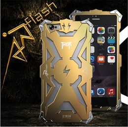Wholesale Transformer Aluminum Metal Case - For iphone7 7plus Simon Thor Iron Man Metal Aluminum Cases Punk Rock Style Transformers Robot Crash Proof Bumper Cover Case DHL SCA120