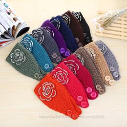 Wholesale Handmade Hair Accessories Mixed - HOT SALE Women knitted headband with flower crochet hair headband- Handmade hair accessories Mixed