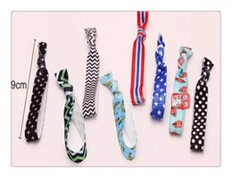 Wholesale Elastic Hair Tie Fold - Wholesale Hair Care Knotted Hair Ties Bands Fold Over Elastic Hair Band FOE Band Gilrs Ponytail Holder No Fraying Assorted Colorful Styles