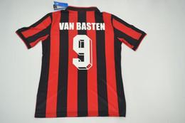 Wholesale Milan Retro - 90 91 AC MILAN Jersey Retro shirts home Gullit Ancelotti SOCCER JERSEY 1990 1991 Tassotti Maldini Baresi Van Basten Rijkaard football
