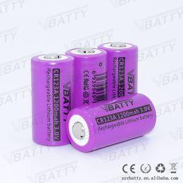 Wholesale Cr123a Led - 4pcs CR123A RCR123A 3V cr123a Rechargeable 1200mah Li-Ion Battery for LED Flashlight Digital Camera Laser Pen Free Shipping
