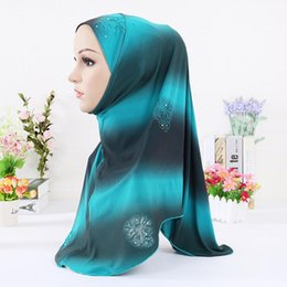 Wholesale Knitted Headband Patterns - 2016 Muslim Hijab New Women Fashion Colorful Pattern Muslim Patchwork Hijab, Winter Pashmina Wrap Hijab Muslim Headband Scarves