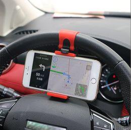 Wholesale Steering Suzuki - Universal Car Steering Wheel Clip Mount Holder for iPhone Android Phone for Suzuki Swift grand vitara sx4vitaraLianaJimny