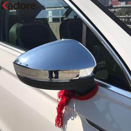 Wholesale Volkswagen Side Mirror - ABS Chrome For Volkswagen vw Tiguan 2017 2018 Rearview mirror Side Door Backup Mirrors Cover Trim Accessories 2PCS