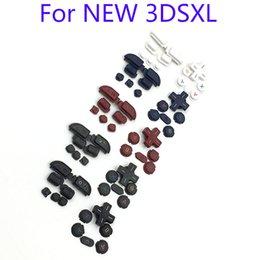 Wholesale D R L - R & L ZR ZL Button Parts D Pad ABXY Home Cross key Power Buttons Set For Nintendo New 3DS XL LL DHL FEDEX FREE SHIPPING