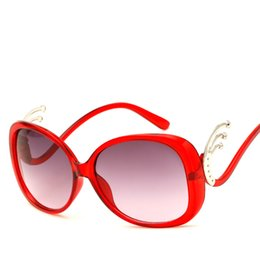 Wholesale Eyewear Bag - Funny Butterfly Sunglasses For Woman 2018 Trend Fashion Shades Plastic Women Brand Designer Sun glasses Integrated Eyewear UV400 With Bag