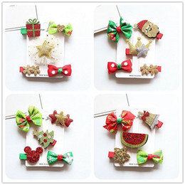Wholesale Christmas Hairclips - New arrived Christmas Hot sale Girl Hair Clips baby Hairclips Childrens barrettes kids Hair Accessories Cartoon Hair Things Baby Wear A1399