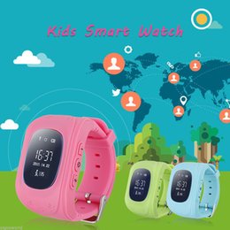 Wholesale Pink Kids Microphone - 2017 Best Selling Fashion Q50 Children Baby Safe Smart Watch Built-in Microphone GPS LBS Tracker SOS Call Reminder SIM GSM Wristband For Kid