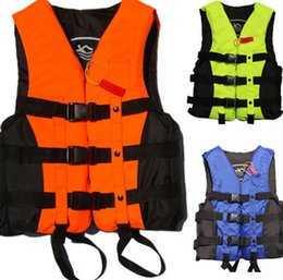 Wholesale Boating Vest - Foam Flotation Swimming Life Jacket Vest Adult With Whistle Boating Swimming Safety Life Jacket Water Products free shipping