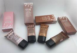 Wholesale High Bb - Kylie Born To Glow Cosmetics Face Concealer Foundation Liquid High Light Makeup Foundation Liquid illuminator BB cream 45ml Make up free dhl