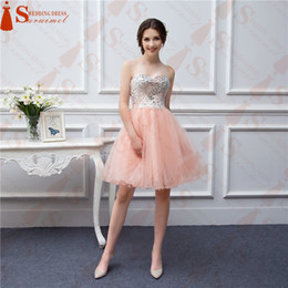 Wholesale Photos Fashion Models - Free Shipping Shipping in 6 Days Short Coral Evening Dresses Beaded Applique Soft Tulle High Quality Prom Party Dresses Real Photo
