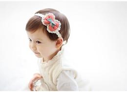 Украшение лука онлайн-Маленький ребенок ободки уха кролика эластичный оголовье годовщина солнца украшения для волос корона лук цветы головные уборы аксессуары