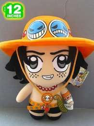 """Wholesale Anime One Piece Ace - NEW arrival 12"""" Japanese Anime One Piece Plush Toy Cute Portgas D Ace Dolls Movies & TV Stuffed Toys"""