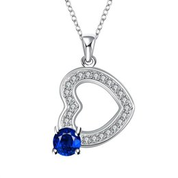 Wholesale High Quality Fashion Jewellery - 2016 Luxury Jewelry 925 Silver Vintage Pendant With Zircon High Quality Love Jewellery For Wedding New Fashion Necklace Jewelry DHN023