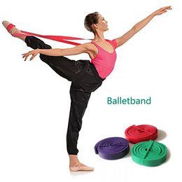 Wholesale Elastic Bands For Fitness - Ballet Stretch Band for Ballet Dance Gymnastics Yoga Mult Sizes Fitness Resistance Bands Natural Latex Rubber Elastic