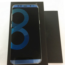 Wholesale Cdma Android Phones Inch - Goophone S8 edge plus Phone Quad Core 6.2 Inch 1GB ram 8GB rom shows fake MTK6592 Octa Core 64bit 3G RAM 64GB Cell Phones