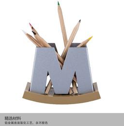 настольные проекты для свадеб Скидка Оптовая патент дизайн, горячие продать алюминиевого сплава держатель ручки офис настольные коробки ж / м два стиля можно выбрать