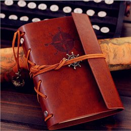 Wholesale Faux Leather Paper - DHL Shipping Vintage Faux Leather Cover Journal Diary Blank String Notebook leather diaries Christmas Gifts