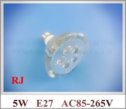 Wholesale Par Profile - lathe profile aluminum LED spot light lamp spotlight LED bulb par light parlight E27 AC85-265V 5LED 5W 400lm high bright