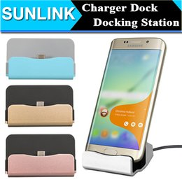 Wholesale Dock Base - Android Mobile Phone Dock Charger Base Universal Micro USB Charging Data Sync Docking Station for Samsung S6 S7 Edge Huawei Xiaomi LG