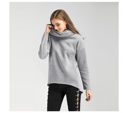 Wholesale Women S Scarves - 2017 Women Autumn Hoodies Scarf Collar Long Sleeve Fashion Casual Women's Hoodies Rough Pullovers DHL Free