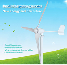 Potenza generatore turbina eolica online-Il generatore di turbina di energia eolica libera il trasporto 3 fasi ac 24v 48v 3 lame iniziano con velocità del vento di 2.5m / s 1000w