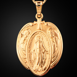 Wholesale United Links - Europe and the United States religious copper 18K gold Virgin Mary pendant necklace, men and women new jewelry p30173 jewelry wholesale
