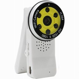 Wholesale Wireless Ir Webcam - IR night Version Mini Clip Wifi Camera Full HD 1080P Wireless Hidden Cameras digital video recorder Loop video remote IP P2P WebCam