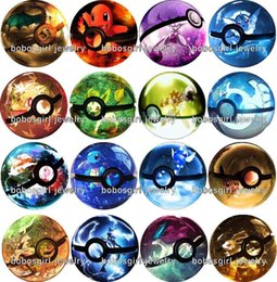 Wholesale Good Quality Silver Bead Wholesalers - Free shipping 16pcs   lot pocketmon bead glass Snap button Jewelry Charm Popper for Snap Jewelry good quality Gl319 Jewelry making DIY