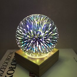 Wholesale N 3d - 3D glass magic science and technology cool light tree silver flower lantern LED bedside bedroom decoration table lamp starry lamp creative n